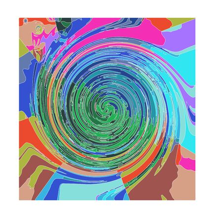 Abstract spiral with colors Stock Vector - 18134836