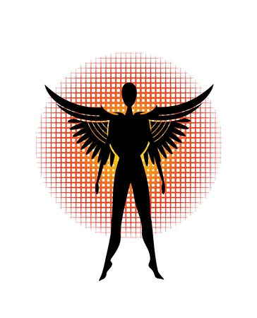 black plumage: stylized dark angel
