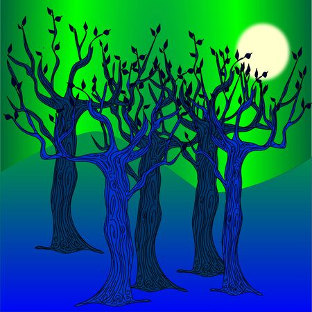 the blue forest Stock Vector - 18781381