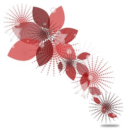 su: astratto in tonalità di rosa su uno sfondo bianco