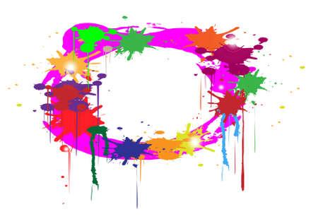 abstrakte Farben Splash auf wei�em Hintergrund