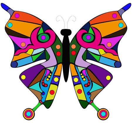 abstract butterfly on a white background