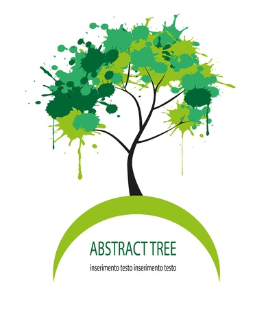 abstract tree made up of patches of color Stock Vector - 19862689