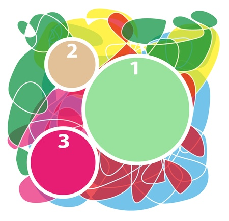 cornici colorate astratti numerati in diversi colori