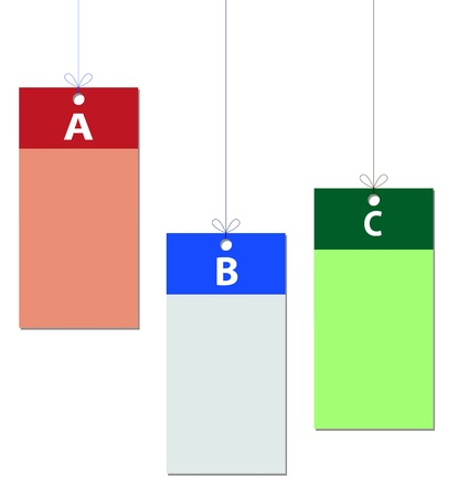teaches: labels in different colors with space for text