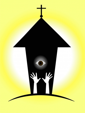 catholic mass: vector illustration, symbol of the Christian religion Illustration