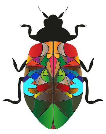 Geben Insekten Kakerlake auf wei�em Hintergrund