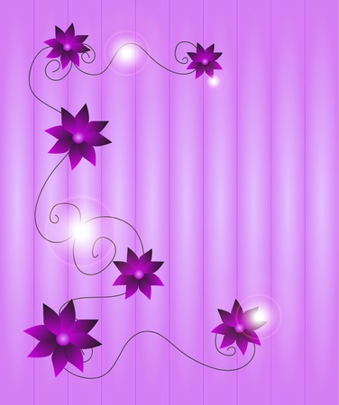 Vector floral background in shades of purple Illustration