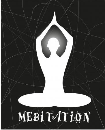 loto: silhouette in meditazione yoga Illustration