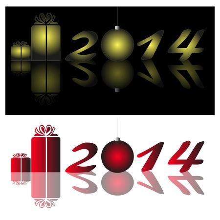 anno: Decorazione di Capodanno con la riflessione