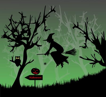 Illustration for Halloween with pumpkin Stock Vector - 23082094