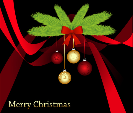 christmas card on abstract background