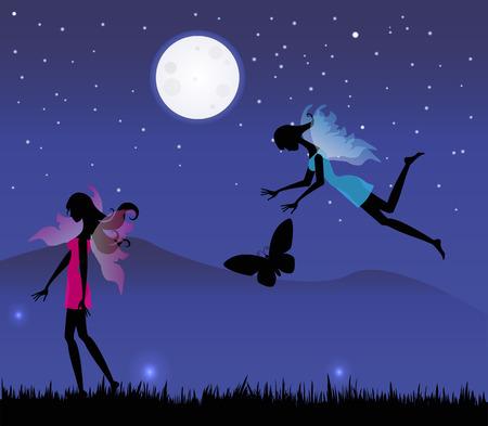 luna: fate al chiaro di luna Illustration