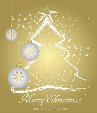 Weihnachtskugeln auf Weihnachtsbaum Hintergrund