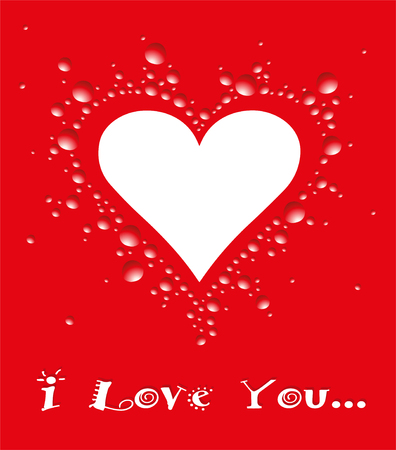 Illustration f�r Valentine s Tag auf einem roten Hintergrund