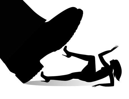 女性に対する暴力の象徴的な図