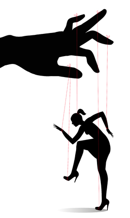 marionette: Woman as a marionette controlled