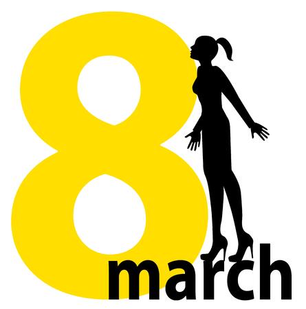 8. M�rz, dem Internationalen Frauentag s Day Illustration