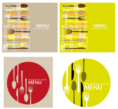 series of menus Illustration