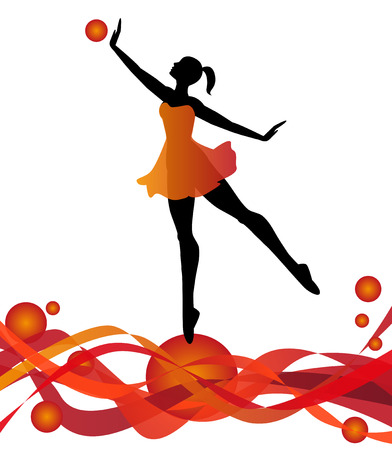 dancer silhouette on abstract background