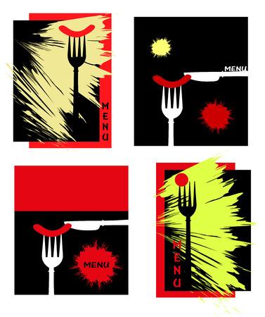 series of menu