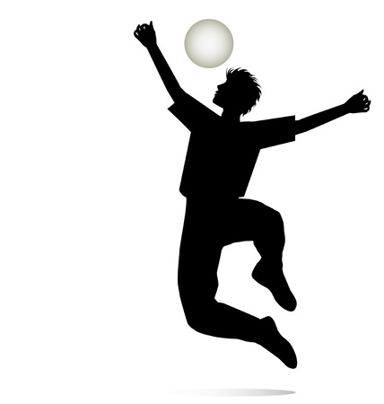 silhouette of a boy who rejoices playing with the ball
