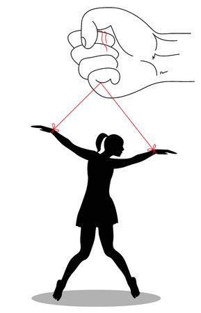 symbolic illustration against violence on women