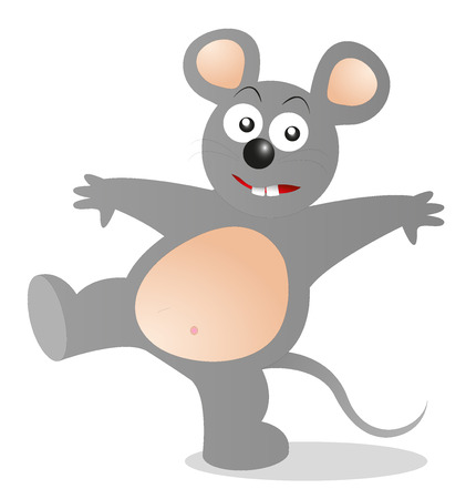 Mickey Mouse cartoon style on white background