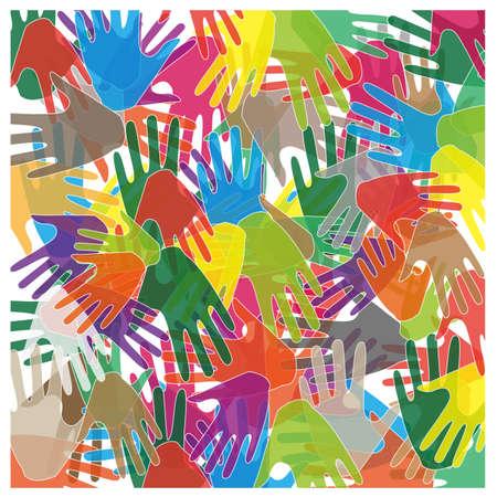 abstrakten farbigen H�nden Illustration