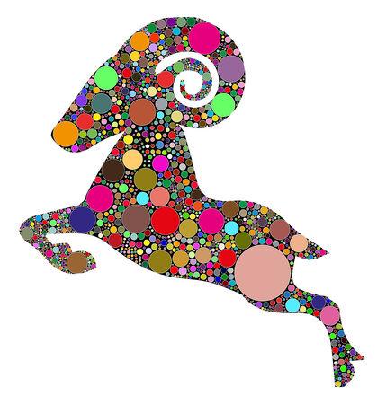 aries zodiac: aries, zodiac sign Illustration