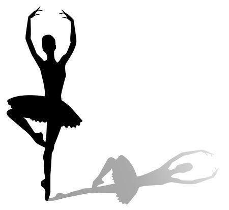 vector silhouette dancing girl Stock Vector - 29672745