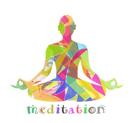 illustration of a man figure meditating Stock Vector - 29926812