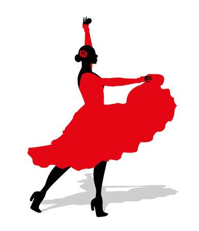 displacement: flamenco dancer Illustration
