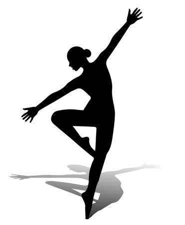 vector silhouette dancing girl Illustration