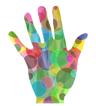 Abstract hand on white background Illustration