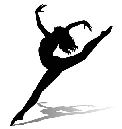bailarines silueta: silueta de la bailarina
