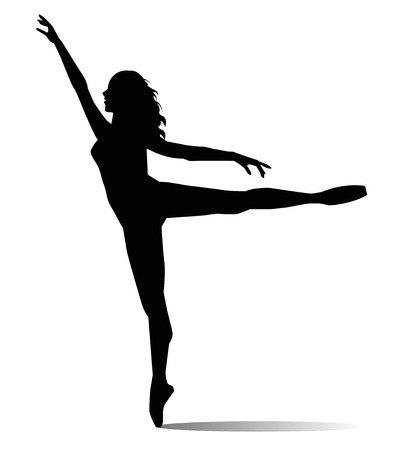 dancer on  white background Illustration