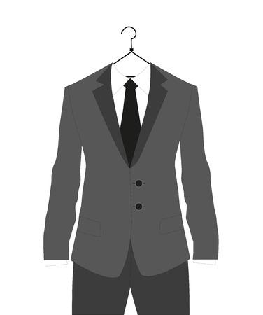 man s suit on hanger