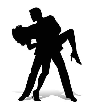 vector dancer tango silhouette Ilustracja