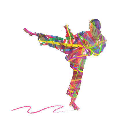 abstract karate men