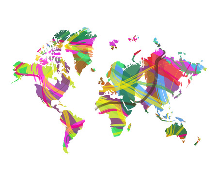 planisphere: abstract world map Illustration