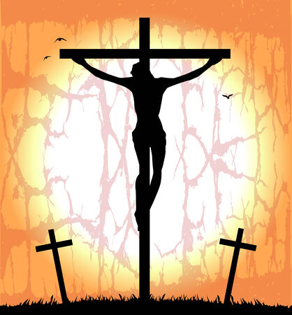 paschal: silhouette of Christ on the cross