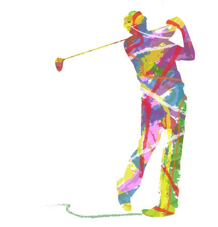 Sylwetka streszczenie Golf Sport Ilustracje wektorowe