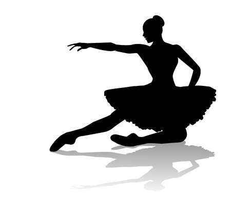 ballet dancer silhouette Vetores