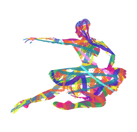 abstract ballet dancer silhouette Vector