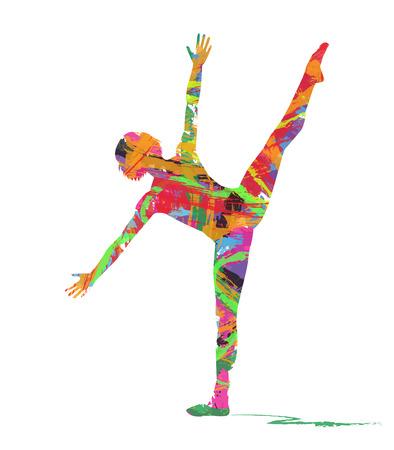 abstrakte Silhouette des Tänzers Vektorgrafik