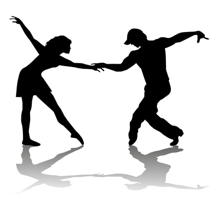 woo: couple of dancers silhouette