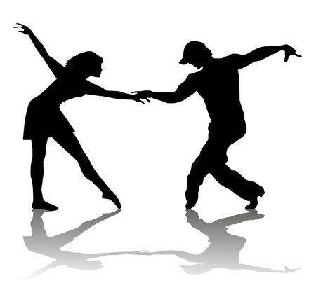 ardor: Pareja de bailarines silueta