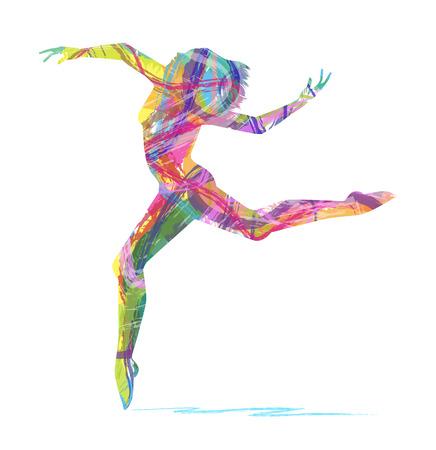 Silueta abstracta de bailarina Foto de archivo - 33103031