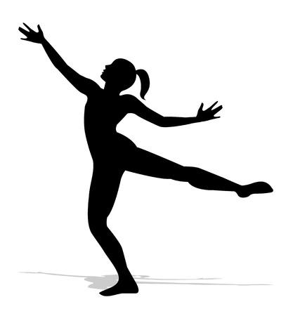 bailarines silueta: silueta de un bailarín